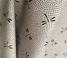 Dragonflies - Japanese Fabric - Natural Color - Westex