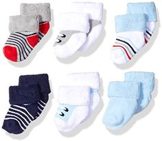 Luvable Friends Baby Newborn Terry Socks, 6 Pack Cotton rich fabric Stretchable for better fit Super soft and comfy Cute patterns and colors Machine washable Boy Shoes, Crib Shoes, Newborn Shoes, Baby Newborn, Baby Tights, Baby Swimsuit, Cute Baby Gifts, Boys Socks, Grey Sneakers