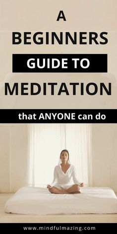 Meditation will help us to understand our own mind. We can learn how to rewire our thoughts from negative to positive, from disturbed to peaceful, from unhappy to happy. Meditation for beginners will show you how. These 10 tips make starting to meditate e Guided Meditation, Meditation Mantra, Types Of Meditation, Meditation Benefits, Meditation For Beginners, Meditation Techniques, Healing Meditation, Meditation Practices, Mindfulness Meditation
