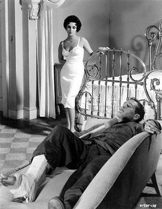 """Elizabeth Taylor, Paul Newman– """"Cat on a Hot Tin Roof"""" 1958 Hollywood Icons, Golden Age Of Hollywood, Classic Hollywood, Old Hollywood, Scarlett O'hara, Louisa May Alcott, Paul Newman, Grand National, Jane Eyre"""