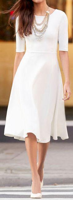 Ivory Midi Dress ❤︎