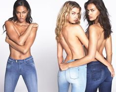 Innovation is simple. Meet the new Replay TOUCH, a true revolution in women's jeans, worn by Irina Shayk, Stella Maxwell and Joan Smalls.  Campaign by Mert & Marcus and Art Partner. #touchit #replaytouch #replay #replayjeans #mertandmarcus #artpartner