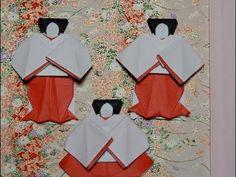 """折り紙のお雛様 三人官女(立っている官女)の折り方作り方 後半 """" Hina Doll """" Origami - YouTube Japanese Origami, Quilling, Bullet Journal, Dolls, Decor, Party, Paper Dolls, Paper Envelopes, Asia"""