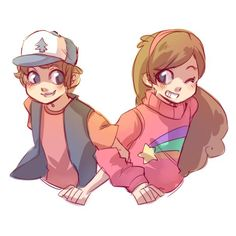 Tags: Anime, Zilleniose, Gravity Falls, Mabel Pines, Dipper Pines, Brother