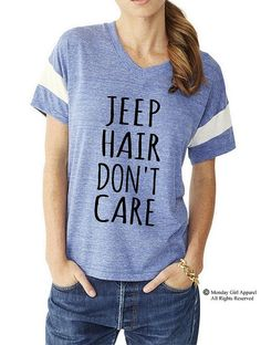 JEEP Hair Don't Care Slouchy Gym Tee by MondayGirlApparel on Etsy