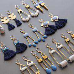 Likes, 87 Comments - David Aubrey Jewelry ( on Instag. Clay Earrings, Clay Jewelry, Boho Jewelry, Jewelry Crafts, Jewelery, Jewelry Accessories, Handmade Jewelry, Jewelry Design, Fashion Jewelry