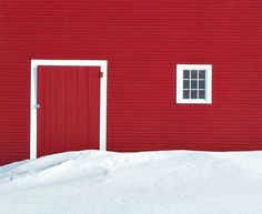 Red barn in Stowe, Vermont.