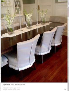 Want This For The Wrong Chairs Closure And Skirt Slipcover Need These My Dining Room Having Kids Destroyed Our Once Nice
