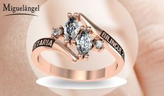 Nueva colección de anillos de graduación Class Rings For Girls, Senior Rings, Wedding Sets, Wedding Rings, College Rings, Jewelry Rings, Jewelery, Fantasy Jewelry, Crystals And Gemstones