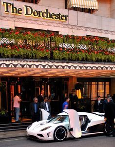 Stunning Koenigsegg Agera R sat outside the Dorchester
