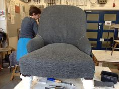 Victorian Ironback upholstery: top cover on the seat