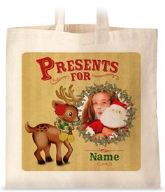 Fine and Dandy - Rudolph Photo Upload Tote Bag £9.99 #Christmas #stocking #filler