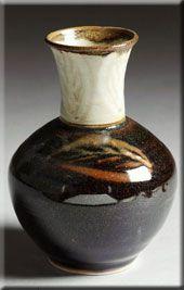 Vase Temoku. nancyzollerpottery.com