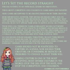 Livid (@myloserville)   Twitter: Lets set the record straight, about what #GamerGate is: