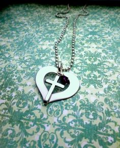 Communion Necklace Communion Gift Heart and by HandmadeLoveStories, $25.00