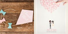 Fun wedding invitation and wedding poster by Ello There.