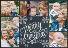 Mixbook Chalkboard Snowflakes Holiday Photo Cards