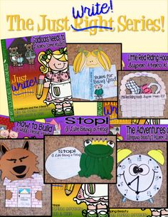 The Just Write! Series... An assortment of writing packs with week-long lessons for OPINION, NARRATIVE and EXPOSITORY paragraphs! All based on familiar fairy tales! Detailed writing lessons, differentiated pre-write plans and crafts included with each! LOVE THESE! See the product description to find links to all of the lessons in the series.