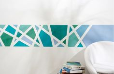 Painting result for pattern wall painting yourself - Best Kitchen Decoration 2019 Pattern Wall, Wall Patterns, Diy Wall Painting, Geometric Wall, Easy Paintings, Cool Walls, Metal Wall Decor, Paint Designs, Bedroom Wall