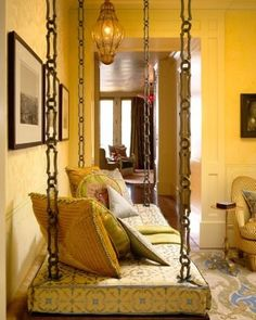 South Asian Decor: South Asian inspired swing! Can't wait to get my own home so I can have my own swing! :)