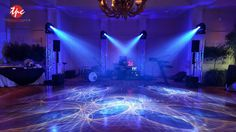 Four Moving Lights on Truss with LED Uplighting