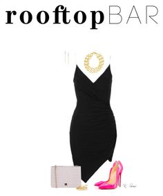 """LBD & FMNP"" by ksims-1 ❤ liked on Polyvore featuring Topshop, Christian Louboutin, Blugirl, Rivka Friedman, Marni, mizuki, summerdate and rooftopbar"