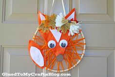 Embroidery Hoop Fox Wreath - Glued To My Crafts Thanksgiving Crafts For Kids, Easy Crafts For Kids, Scottish Festival, Fox Kids, Diy Embroidery, Hoop, Wreaths, Christmas Ornaments, Holiday Decor