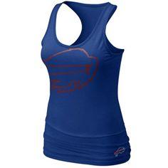 Nike Buffalo Bills Women's Big Logo Tri-Blend Tank - Royal Blue. Want for the season!!