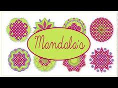 Der Stickbär | Mandalas | Stickmuster mit Herz