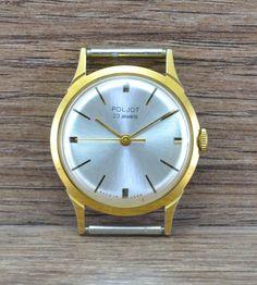 Men`s Vintage USSR mechanical watch POLJOT ORIGINAL serviced