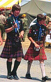 kilts | Figure 2.--Scottish Scouts often wear their kilts at international ...