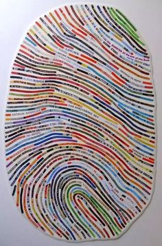 Literature Fingerprint Artworks- made up from the stories of your life.