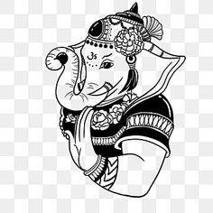 Ganesh Chaturthi Greetings, Happy Ganesh Chaturthi, Elephant Background, Page Borders Design, Black And White Cartoon, Studio Background Images, Celebration Background, Festival Background, Elephant Pattern