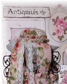 Beautiful shabby chic vintage hat great for by KissedByAnAngel1