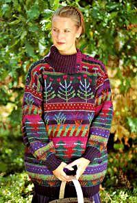 The Metsä Kukkii sweater by textile artist Sirkka Könönen, Finland. Material kit from Taito Pirkanmaa crafts store (online). Even published in early in the Finnish knitting magazine Suuri Käsityö, with instructions. Fair Isle Knitting, Hand Knitting, Knitting Blocking, Handgestrickte Pullover, Knitting Magazine, Hand Knitted Sweaters, Textile Artists, Knit Or Crochet, Knitting Designs