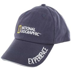 - One size fits most - National Geographic embroidered logo - Single word expressions embroidered on hard bill - Hook and loop closure in the back for loosen or tighten - 100% cotton, machine wash - E