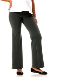 Motherhood Maternity: Secret Fit Belly(tm) Bi-stretch Suiting Fit And Flare Maternity Pants $24.99