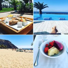 Lunch by the pool at Riu Palace Tenerife   All inclusive hotel in the Canary Islands, Spain