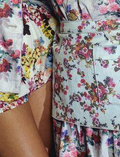 floral print on floral print