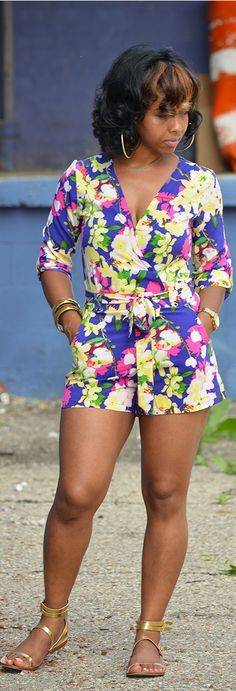 Romper, Summer Outfit Idea, Floral, Indianapolis Style Blogger
