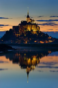 Mont Saint-Michel, Normandy, France - looks like the inspiration for Disney's Rapunzel's kingdom, eh?