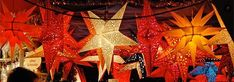 Hometown Evolution: Star Lights - Unique handmade paper star lights and paper lanterns  I have been looking for an affordable place to purchase these!