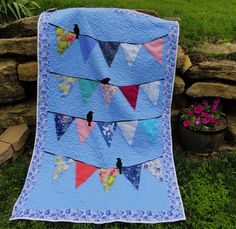 DIY Memory Banner Quilt ~ using baby clothes / special old clothes