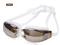 Hivel Swimming Goggles AntiFog UV Protection For Men And Women  White >>> Check this awesome product by going to the link at the image.Note:It is affiliate link to Amazon. #follower