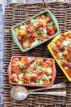 Bread and Tomato au Gratin with Bacon and Blue Cheese
