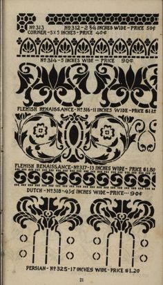 Stencil catalogs: cut stencils for the use of p...