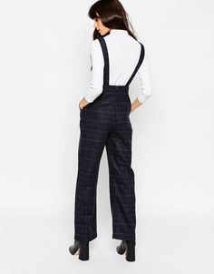 Image 2 of ASOS PETITE Exclusive Dungaree in Check