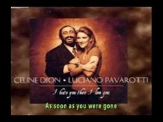 Celine Dion With Luciano Pavarotti - I Hate You Then I Love You (+lyrics) - YouTube