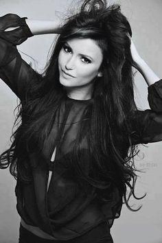 #hair #makeup #Nina Dobrev