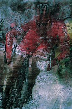 Paris Nice, Cycling, Painting, Art, Bicycling, Biking, Painting Art, Paintings, Kunst